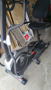 elliptical + stationary bike combo