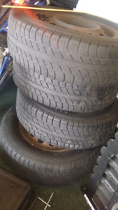 Brand new tires with steelies