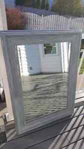 Large Rustic looking bevelled mirror