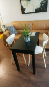 Ikea BJURSTA extendable table with 2 chairs