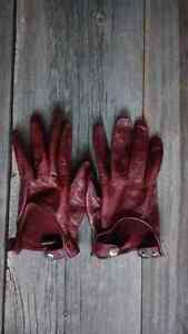 Men's Auclair Brown Leather gloves - driving gloves