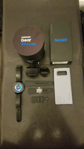 Samsung Note 8 (Unlocked) + Samsung S3 Frontier Smart Watch