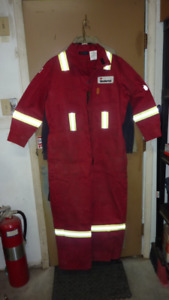 Coveralls - Red Fire Resistant XL-R. Next to new.