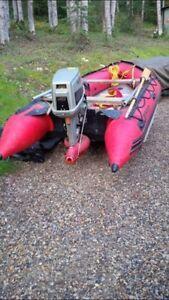Mercury Inflatable w/ 40hp Suzuki outboard jet pump