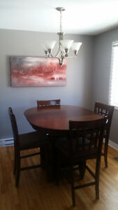 Dining Table - 4 Chairs - Leaf extension