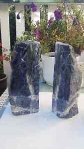 Lovely Bookends - Natural Sodalite Stone