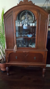Armoire ancienne 1950 - Vintage hutch-buffet 1950s