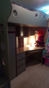 Jysk Bunk Bed & Desk; mattress included; smoke free home