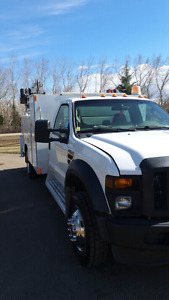 2008 FORD F550 SERVICE BODY W/ CRANE, VMAC, AND WELDER