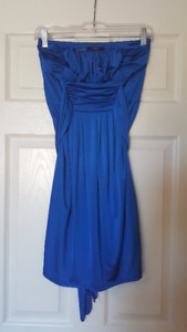 Women's Blue Strapless Dress (Size S/P)
