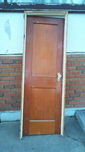Beautiful old door with jamb