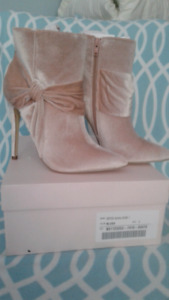 Brand new in box! Blush sueded ankle boots!