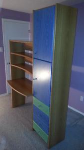 Neoset design storage wardrobe w/ build-in study desk