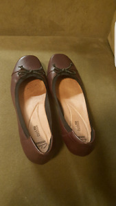 Clarks burgundy shoes for sale