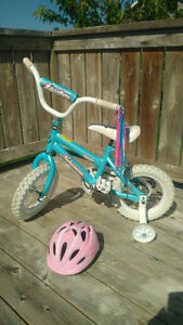 "Girls 12"" bike with helmet"