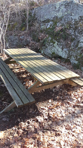 MUST GO! 2 EXTRA LARGE PRESSURE TREATED PICNIC TABLES