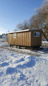 Tiny house . Cabin. Mobile hunting retreat