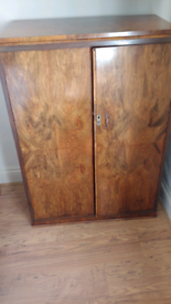 Walnut Tallboy wardrobe.