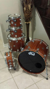 DW maple mahogany 4-piece drum set for sale