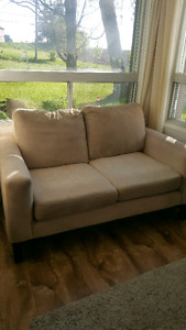 2 x Microfiber Loveseats and a chair