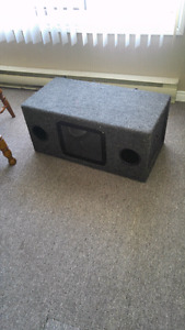 2 subs in box with amp trade for PlayStation or xbox