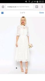 ASOS wedding dress Size 8uk EUR 36