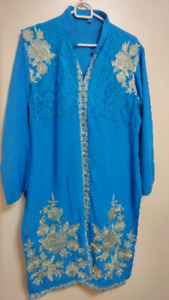 New 3-Piece Blue Shalwar Kameez