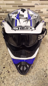 G-MAX Youth small helmet and goggles