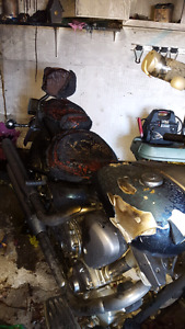 Parts for 2001 Yamaha Roadstar damaged in fire.