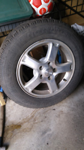Winter tires and rims 225/60R16  200$