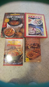 4 books; including slow cooker & other recipes