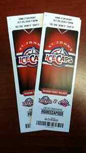 Ice Caps - Two Centre Ice Seats - Less Than Cost St. John's Newfoundland image 1