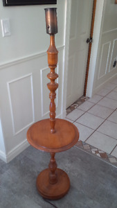 Solid Maple Pedestal Lamp
