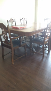 Antique Dining Table and China Cabinet