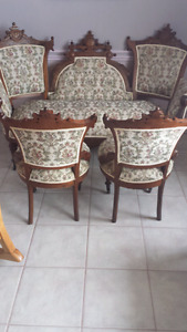 Late 1800's Victorian Love Seat Set Handmade