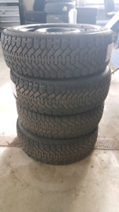 Snow Tires and Rims...Goodyear Nordic...P205/60/R16