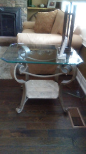 Four Glass Top Tables