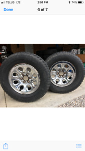 2 CHEVY/ GMC SNOW TIRES AND RIMS!