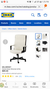 2 New Ikea Millberget Swivel Office Chairs