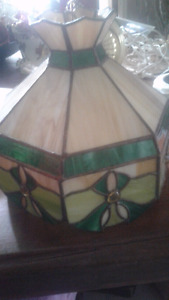 Tiffany - style stained glass chandelier lamp