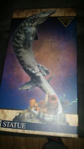 Sideshow mosasaur statue!