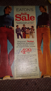 EATONS FALL SALE CATALOQUE 1971