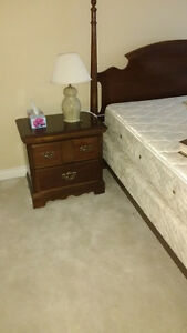 5 piece mahogany 4 poster queen bed