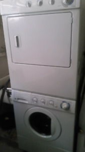 Frigidaire stacked washer and dryer.
