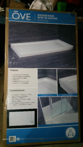 "OVE shower base 60"" x 32"" x 2.75""H ----- NEW IN BOX - price drop"