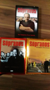 DVD tv shows,  Sopranos,,Orange is NewBlack, Deadwoodn