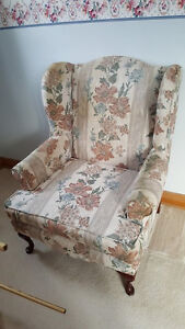 Beautiful Formal Wingback Chair
