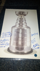 Authentic Autographed Stanley Cup Photo