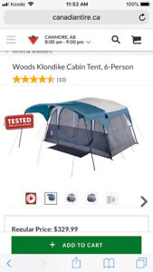6 person tent - brand new.