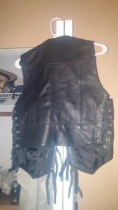 Ladie leather vest for sale